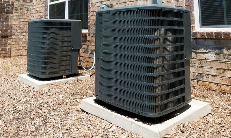 Air conditioners outside home